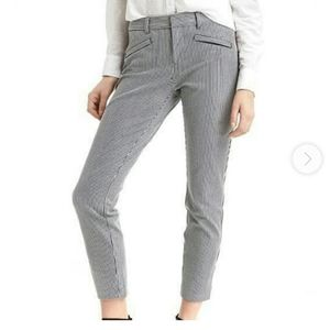 Striped Skinny Ankle Crop Pants